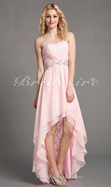 c4668e5fdac4 A-linje Chiffon Gulvlængde Assymetrisk Kæreste Aften kjole